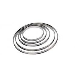 Cercle à tarte hauteur 20 mm.
