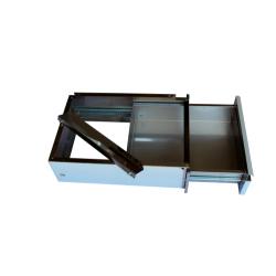 Bloc tiroir pour table inox