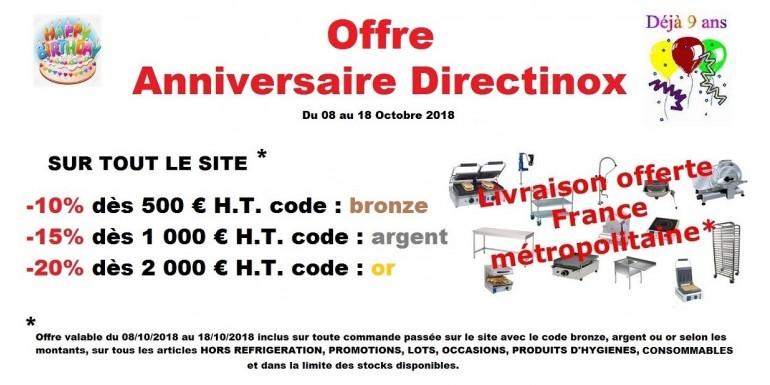 Anniversaire Directinox Promotions